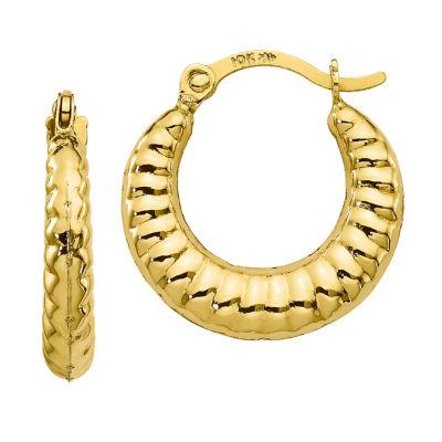 10K GOLD 15mm Hoop Earrings