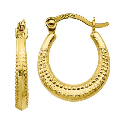 10K GOLD 15mm Hoop Earrings