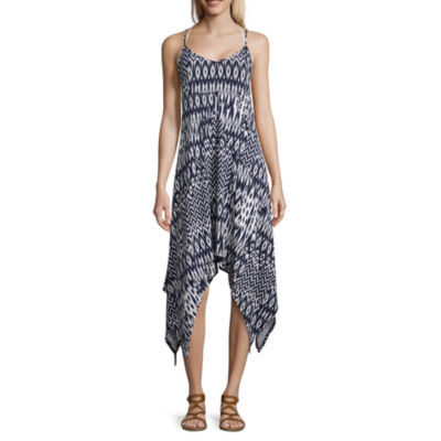 Lm Beach Pattern Jersey Swimsuit Cover-Up Dress