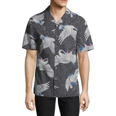 Claiborne Short Sleeve Camp Shirt