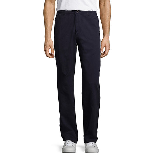 Arizona Mens Straight Fit Flat Front Pant