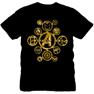 Infinity War Gold Foil Graphic Tee