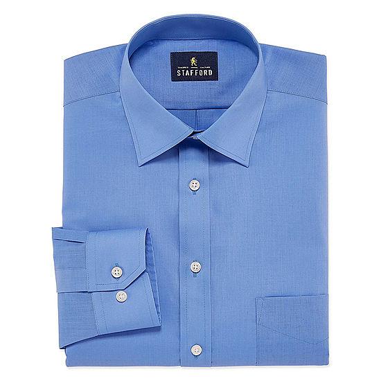 Stafford Men's Regular-Fit Easy-Care Stretch Dress Shirt