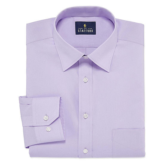 Stafford Mens Fitted Easy Care Stretch Dress Shirt