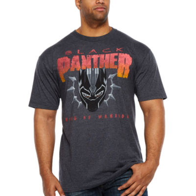 Marvel Short Sleeve Black Panther Graphic T-Shirt-Big and Tall