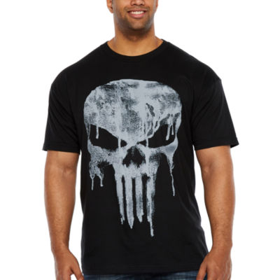 Punisher Slogan Short Sleeve Graphic T-Shirt-Big and Tall