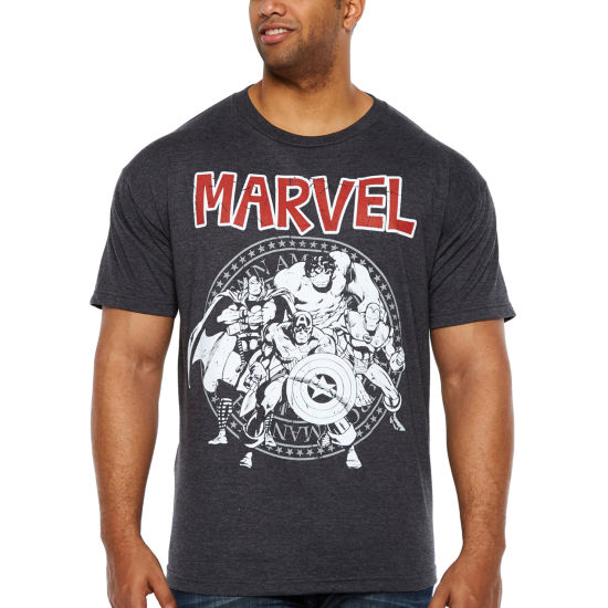 Avengers Group Seal Short Sleeve Avengers Graphic T-Shirt-Big and Tall