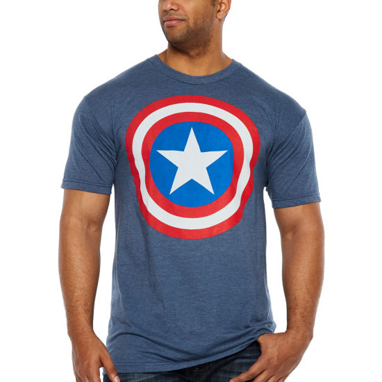 Dim Shield Short Sleeve Marvel Graphic T-Shirt-Big and Tall