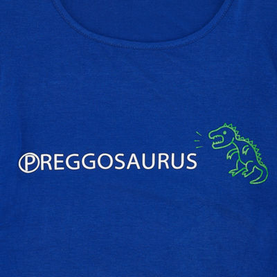 "Planet Motherhood Short Sleeve Scoop Neck  ""Preggosaurus"" Graphic Tee - Maternity"