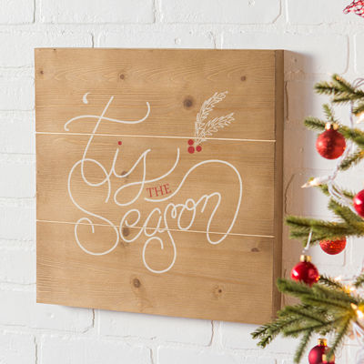 Cathy's Concepts Tis The Season Wooden Wall Art