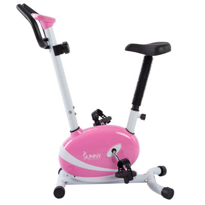 Sunny Health & Fitness P8200 Pink Magnetic Upright Bike Exercise Bike w/ LCD Monitor
