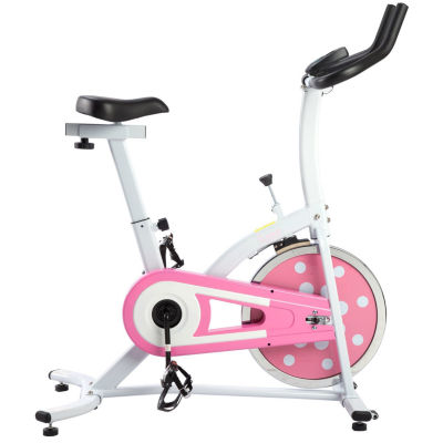 Sunny Health & Fitness P8100 Pink Chain Drive Indoor Cycling Trainer Exercise Bike