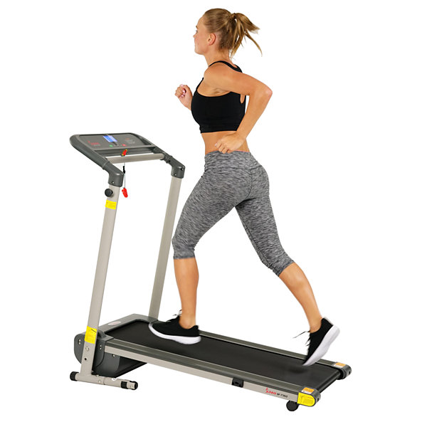 Sunny Health & Fitness SF-T7632 Space Saving Folding Treadmill w/ LCD Display