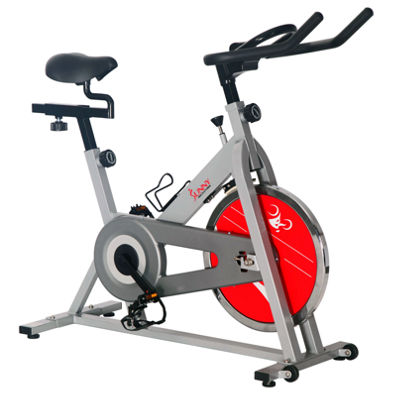 Sunny Health & Fitness SF-B1001S Chain Drive Indoor Cycling Trainer Exercise Bike - Silver