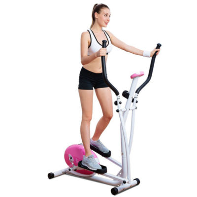 Sunny Health & Fitness P8300 Pink Magnetic Elliptical Trainer Elliptical Machine w/ LCD Monitor