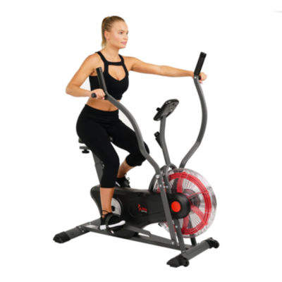 Sunny Health & Fitness Air Bike Trainer, Fan Exercise Bike with Unlimited Resistance, Cross Training for Home - SF-B2640