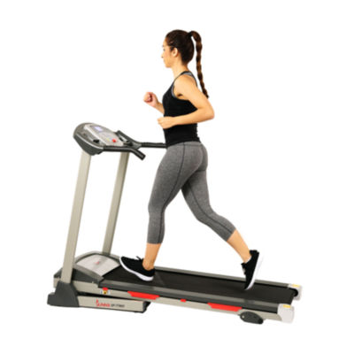 Sunny Health & Fitness SF-T7603 Electric Treadmill w/9 Programs, 3 Manual Incline, Easy Handrail Controls & Preset Button Speeds, Soft Drop System