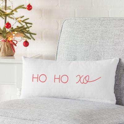 Cathy's Concepts HO HO XO Lumbar Throw Pillow