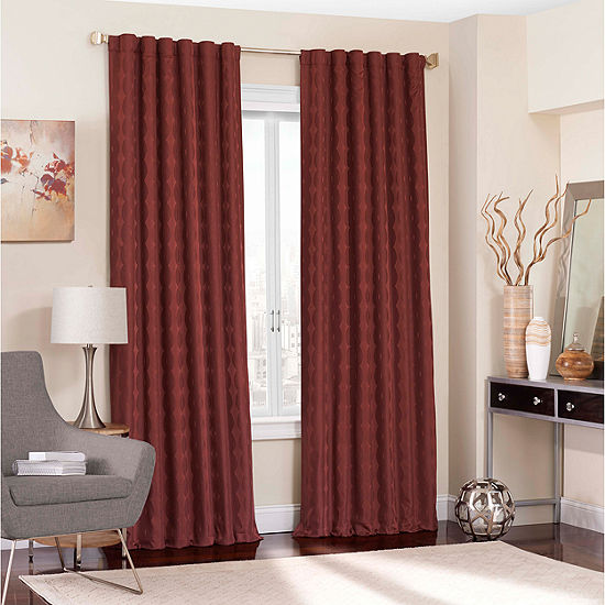 Eclipse® Adalyn Blackout Rod-Pocket Curtain Panel