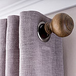 JCPenney Home Turned Wood 1 IN Curtain Rod