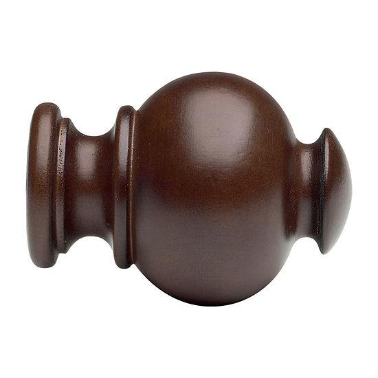 Kirsch Wood Trends - Button Ball 2-pc. Finials