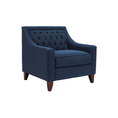 Aberdeen Navy Linen Club Chair
