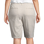 St. John's Bay® Essentials Twill Bermuda - Plus