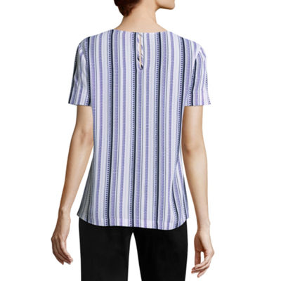 Worthington Scoop Neck Short Sleeve Tee