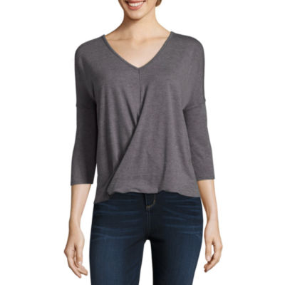 a.n.a. 3/4 Sleeve Twist Front Top