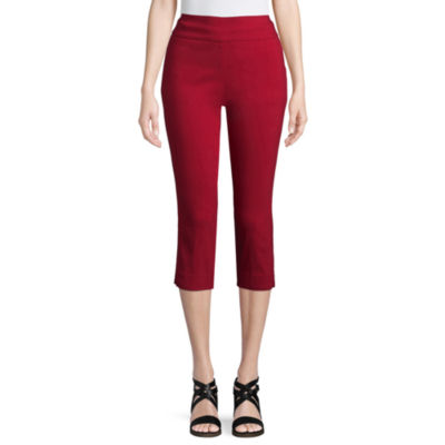 St. John's Bay Straight Leg Stretch Fabric Capris