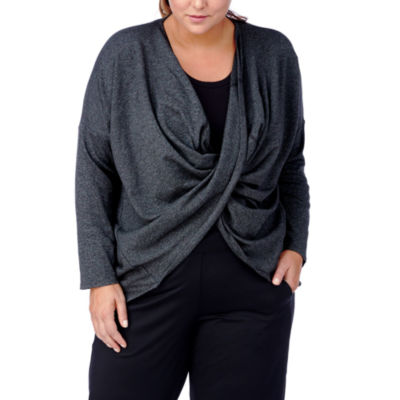 Rainbeau Curves Magnolia Twist 3/4 Sleeve Top - Plus