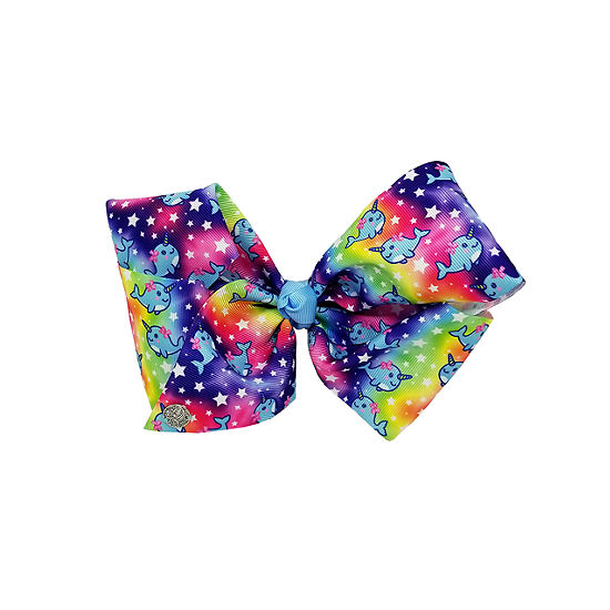 JoJo Siwa Signature All Over Narwhal Bow