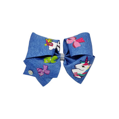 JoJo Siwa Signature Chambray Dream Print Bow