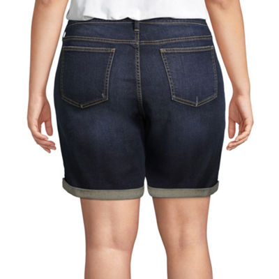 "Boutique + 8"" Denim Shorts - Plus"