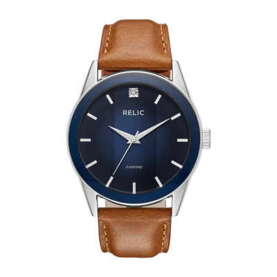 Relic By Fossil Mens Brown Bracelet Watch-Zr77294