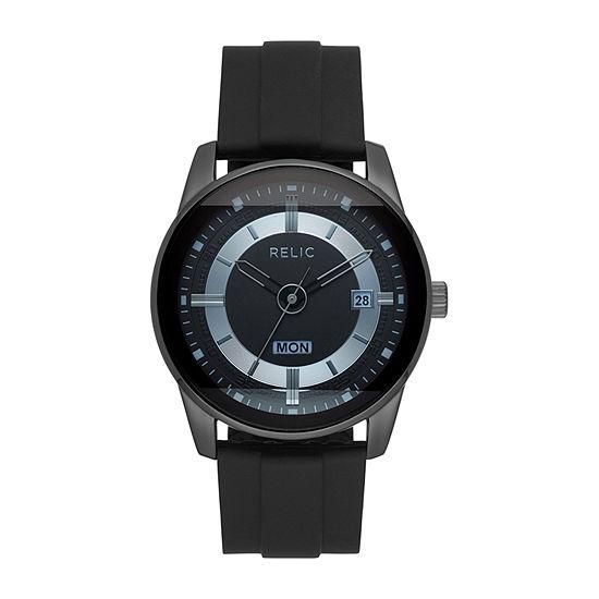 Relic By Fossil Everet Mens Black Bracelet Watch-Zr12583
