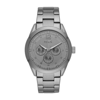 Relic By Fossil Weston Mens Gray Bracelet Watch-Zr15962