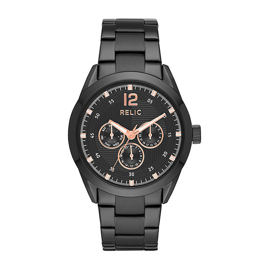 Relic By Fossil Weston Mens Black Bracelet Watch-Zr15963