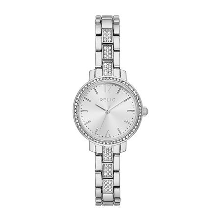 Relic By Fossil Reagan Womens Silver Tone Bracelet Watch - Zr34548, One Size