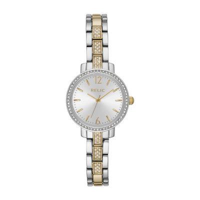Relic By Fossil Reagan Womens Two Tone Bracelet Watch-Zr34549
