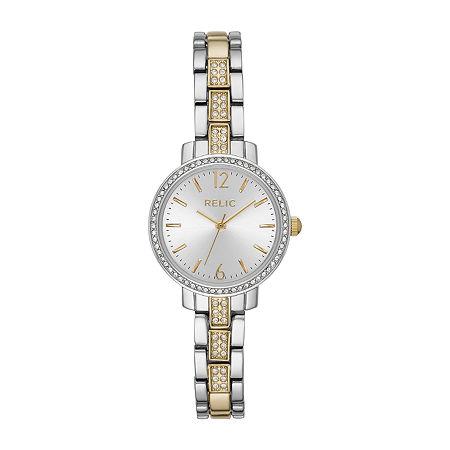 Relic By Fossil Reagan Womens Two Tone Bracelet Watch - Zr34549, One Size