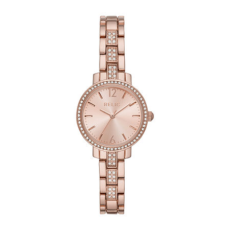 Relic By Fossil Reagan Womens Rose Goldtone Bracelet Watch - Zr34550, One Size