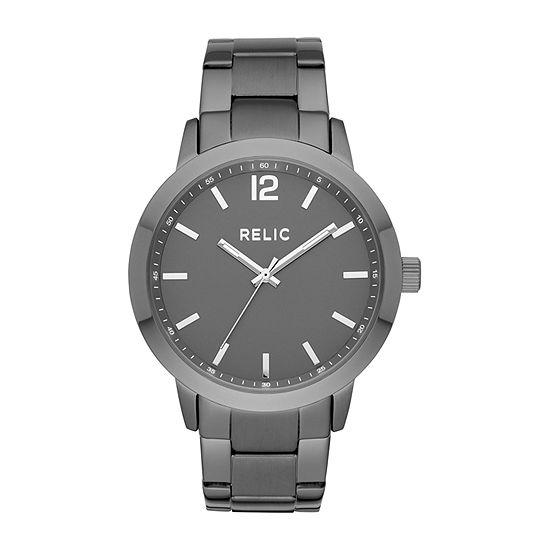 Relic By Fossil Jamie Mens Gray Bracelet Watch-Zr77310