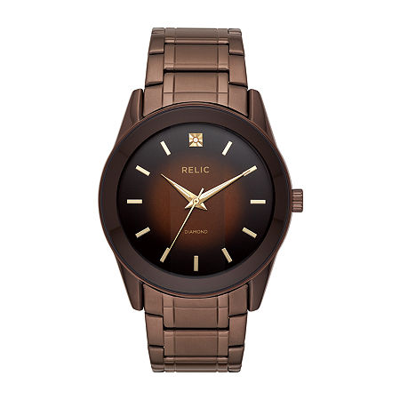 Relic By Fossil Rylan Mens Brown Stainless Steel Bracelet Watch - Zr77312, One Size