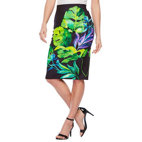 Bold Elements Womens Mid Rise Midi Pencil Skirt
