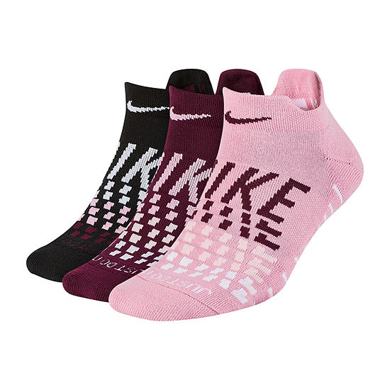 Nike Everyday Max Cush Gfx 3 Pair Low Cut Socks - Womens