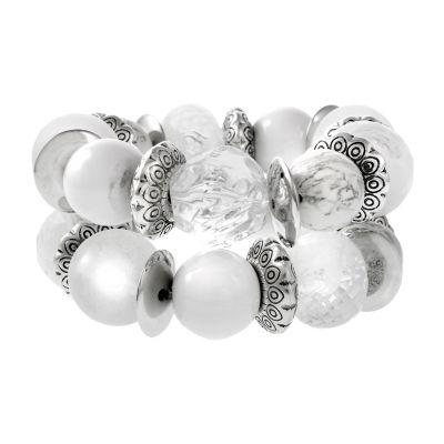 EL by Erica Lyons Silver Tone Beaded Bracelet