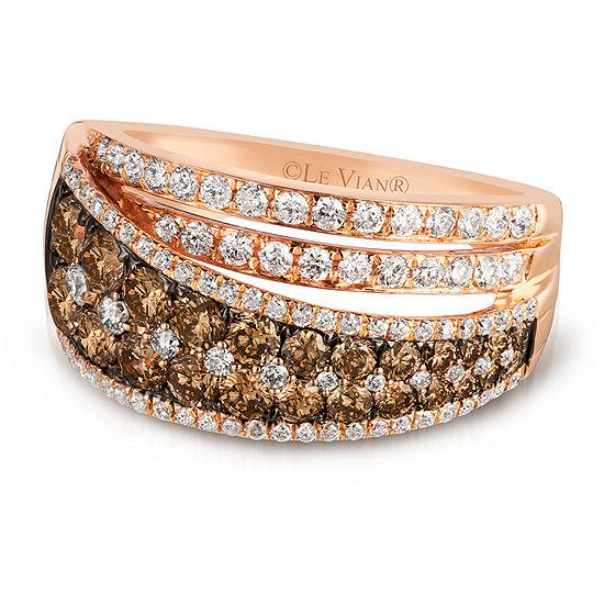 Le Vian Grand Sample Sale™ Ring featuring Chocolate Diamonds®, & Vanilla Diamonds® set in 14K Strawberry Gold®