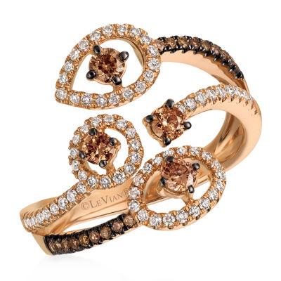 Le Vian Grand Sample Sale™ Ring featuring Chocolate Diamonds®, Vanilla Diamonds® set in 14K Strawberry Gold®