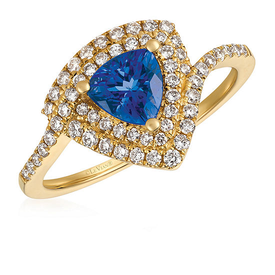 Le Vian Grand Sample Sale™ Ring featuring Blueberry Tanzanite®, Vanilla Diamonds® set in 14K Honey Gold™